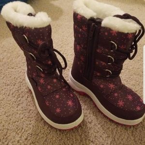 Apakowa Shoes - Apakowa Girls Insulated Fur Winter Boots Size 10.5